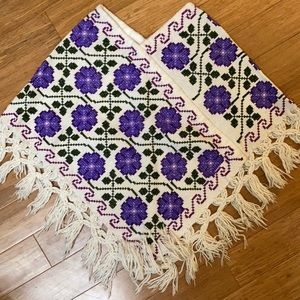 Authentic Mexican Poncho size small